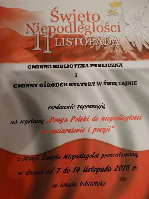Zaproszenie Na Wystawę Droga Polski Do Niepodległości W Malarstwie